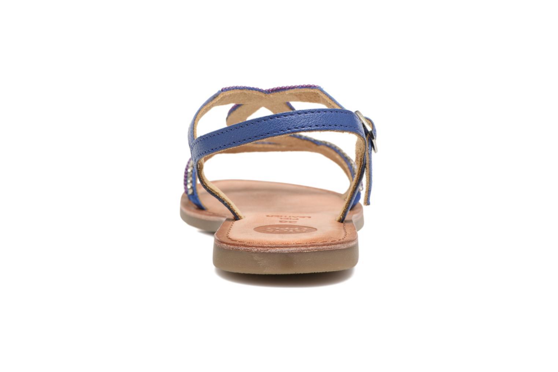 Sandales et nu-pieds Gioseppo Sanscrito Bleu vue droite