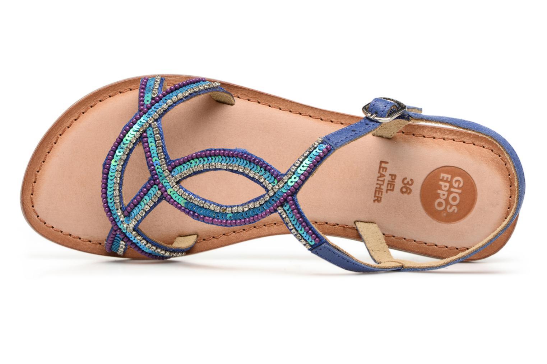 Sandales et nu-pieds Gioseppo Sanscrito Bleu vue gauche