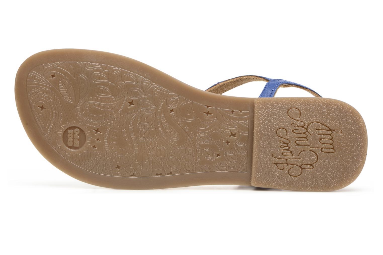 Sandales et nu-pieds Gioseppo Sanscrito Bleu vue haut