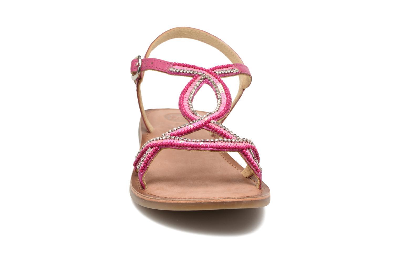 Sandales et nu-pieds Gioseppo Sanscrito Rose vue portées chaussures