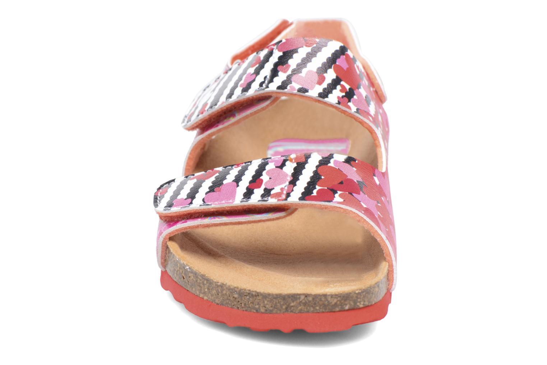 Sandales et nu-pieds Desigual Bio Velcro Rose vue portées chaussures