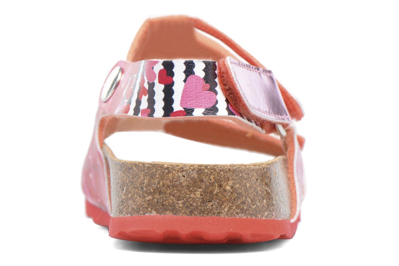 Sandales et nu-pieds Desigual Bio Velcro Rose vue droite
