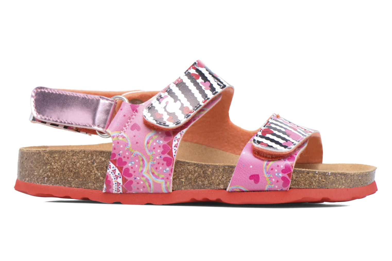 Sandales et nu-pieds Desigual Bio Velcro Rose vue derrière