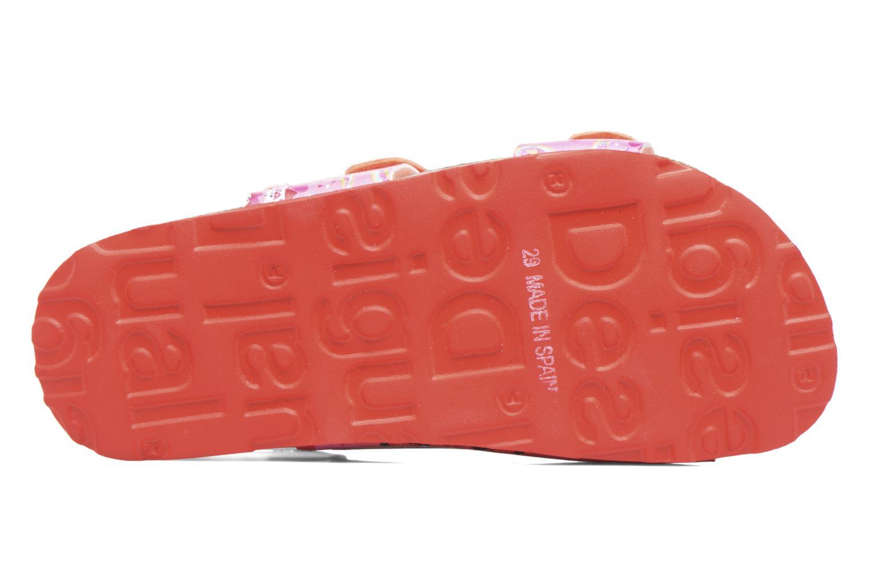 Sandales et nu-pieds Desigual Bio Velcro Rose vue haut