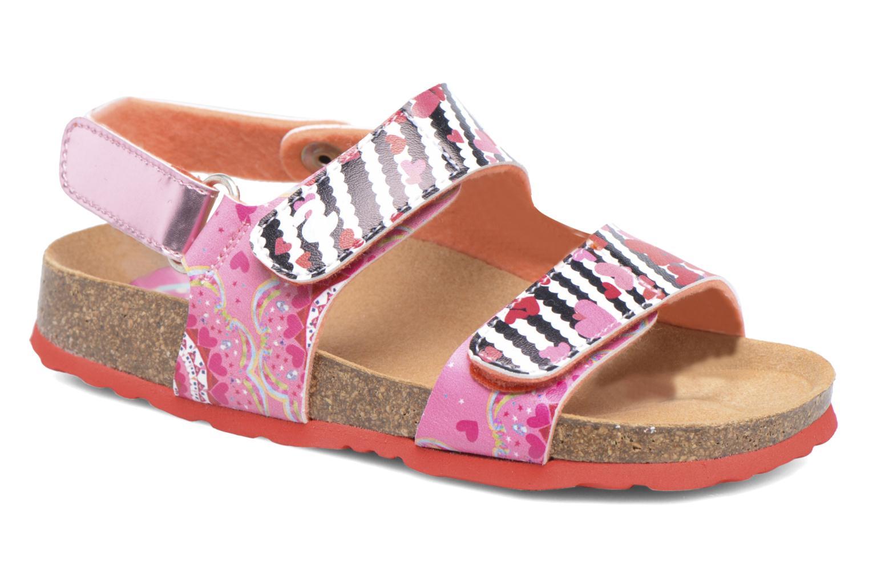 Sandales et nu-pieds Desigual Bio Velcro Rose vue détail/paire