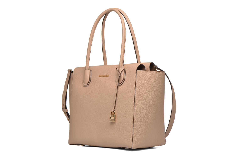 Handbags Michael Michael Kors MERCER LG CONV TOTE Beige model view