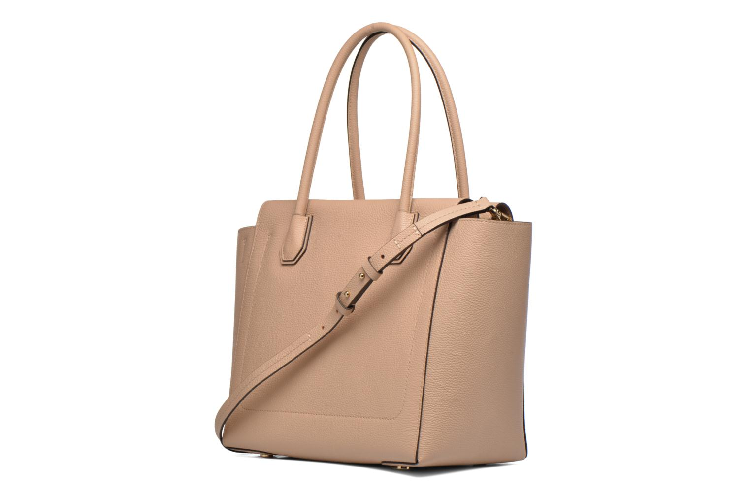 Handbags Michael Michael Kors MERCER LG CONV TOTE Beige view from the right