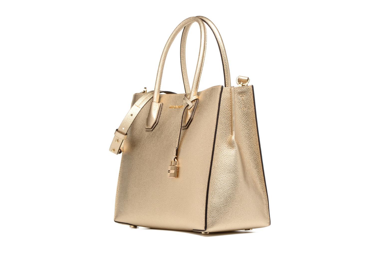 Bolsos de mano Michael Michael Kors MERCER LG SATCHEL Oro y bronce vista del modelo