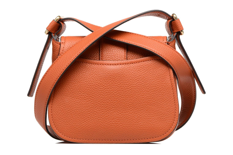 Bolsos de mano Michael Michael Kors MAXINE MD SADDLE BAG Naranja vista de frente