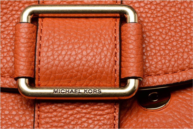 Bolsos de mano Michael Michael Kors MAXINE MD SADDLE BAG Naranja vista lateral izquierda