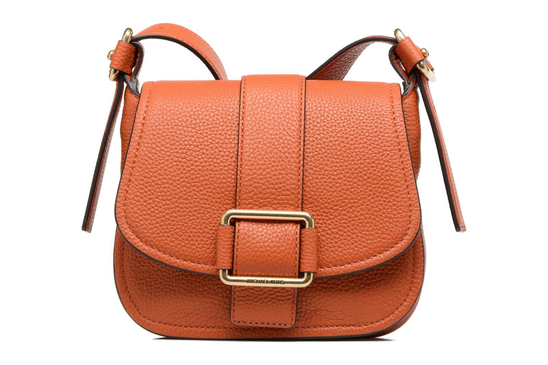 Bolsos de mano Michael Michael Kors MAXINE MD SADDLE BAG Naranja vista de detalle / par