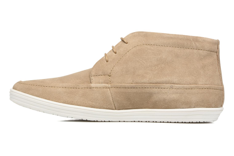 Chaussures à lacets Base London Venue Beige vue face