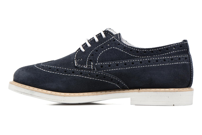 Zapatos con cordones Melania Marcello Azul vista de frente