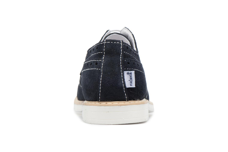 Zapatos con cordones Melania Marcello Azul vista lateral derecha
