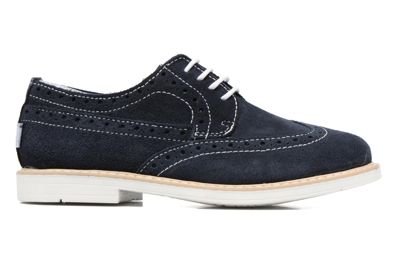 Zapatos con cordones Melania Marcello Azul vistra trasera