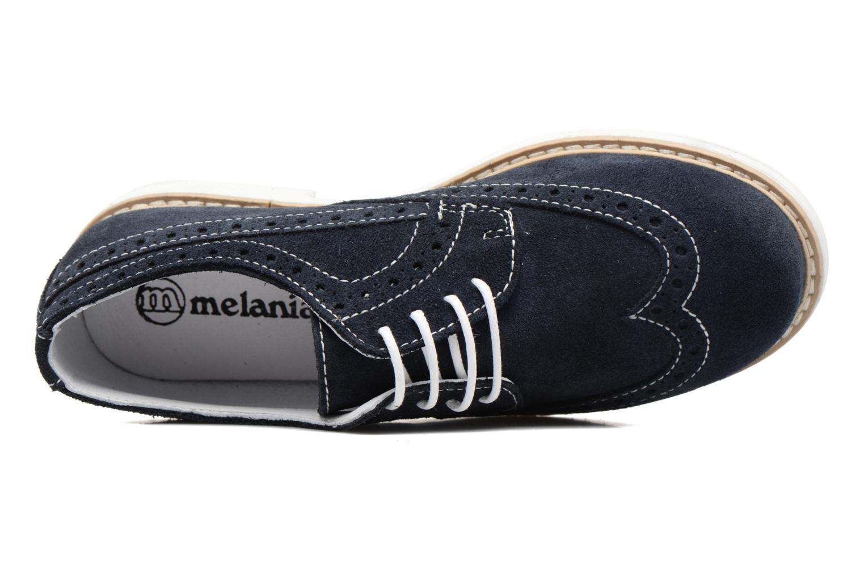 Zapatos con cordones Melania Marcello Azul vista lateral izquierda