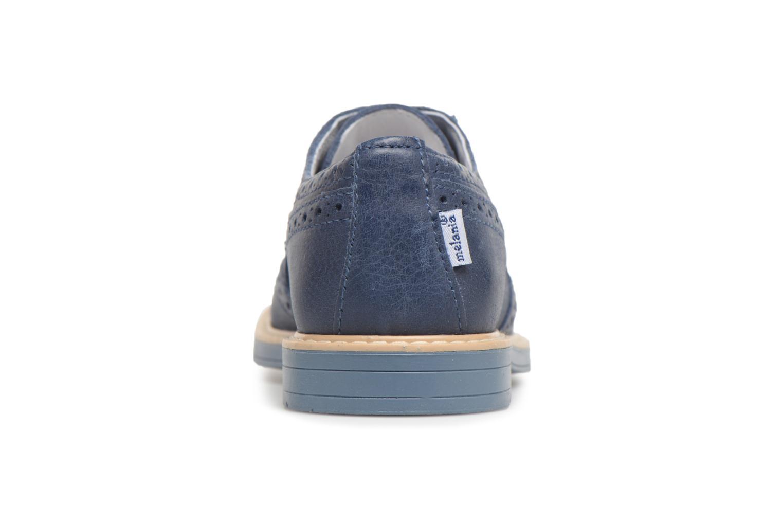 Chaussures à lacets Melania Marcello Bleu vue droite