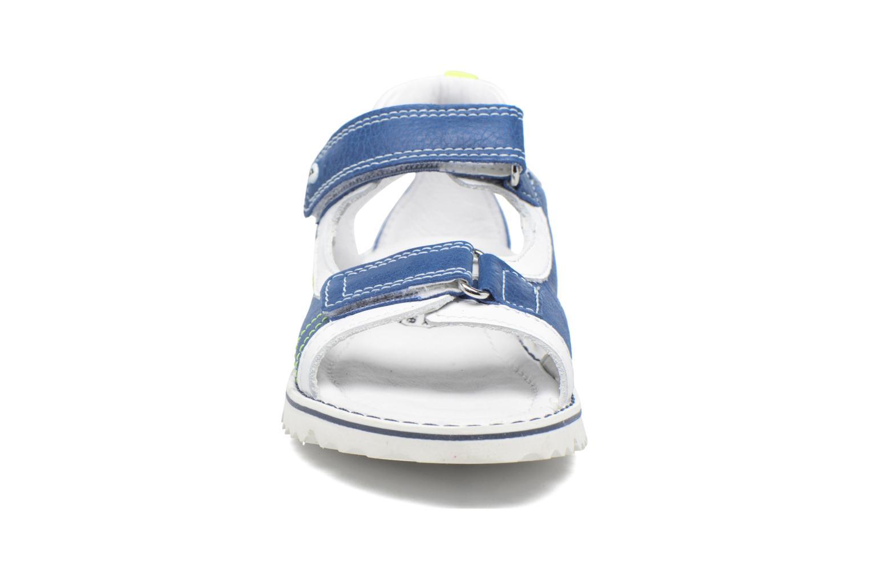 Sandales et nu-pieds Melania Mario Bleu vue portées chaussures