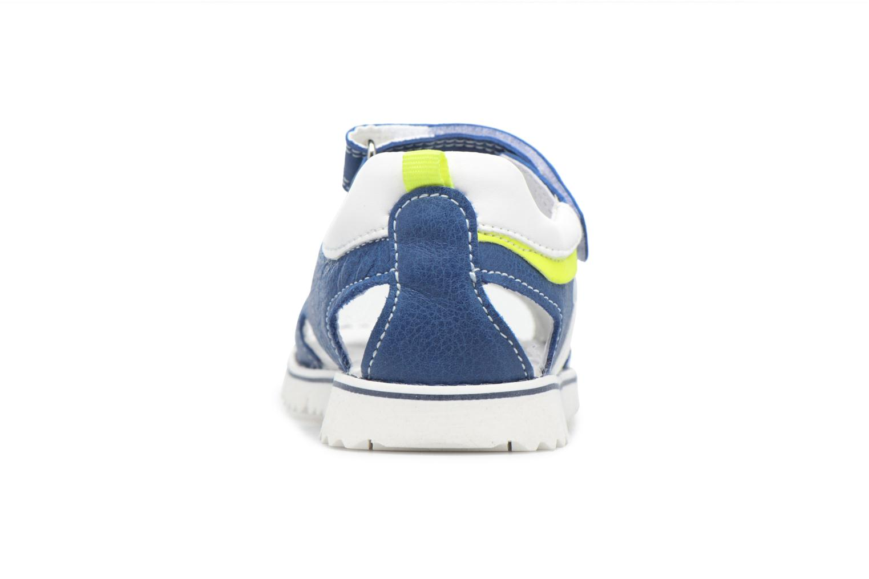 Sandales et nu-pieds Melania Mario Bleu vue droite