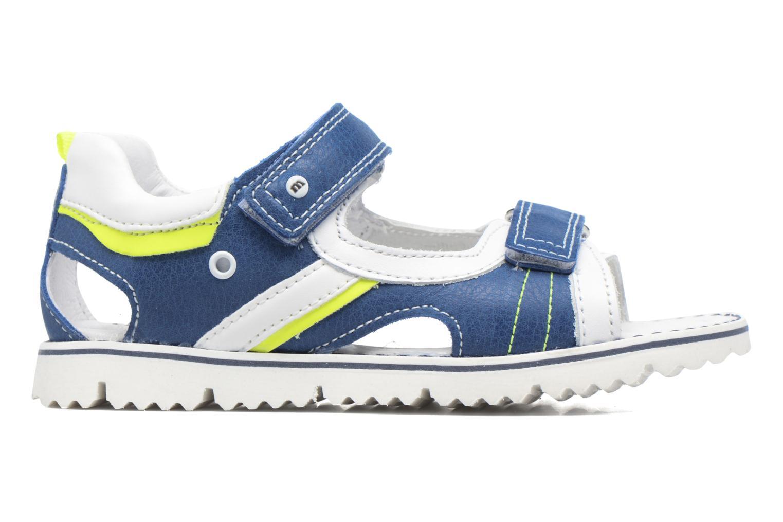 Sandales et nu-pieds Melania Mario Bleu vue derrière
