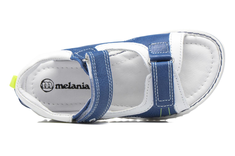 Sandales et nu-pieds Melania Mario Bleu vue gauche