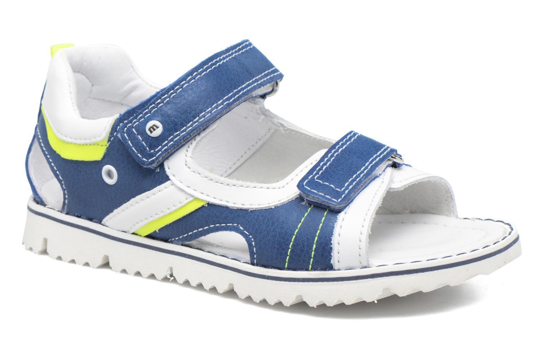 Sandales et nu-pieds Melania Mario Bleu vue détail/paire