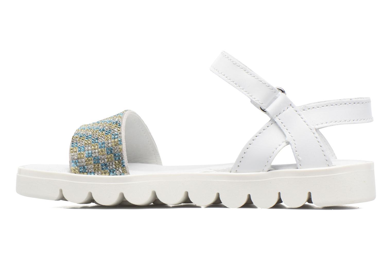 Sandales et nu-pieds Melania Maia Blanc vue face