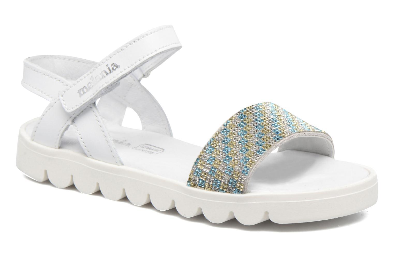 Sandales et nu-pieds Melania Maia Blanc vue détail/paire