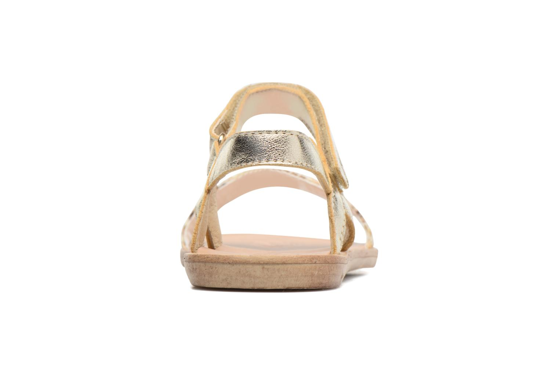 Sandales et nu-pieds Melania Valentina Or et bronze vue droite