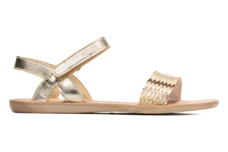 Sandales et nu-pieds Melania Valentina Or et bronze vue derrière