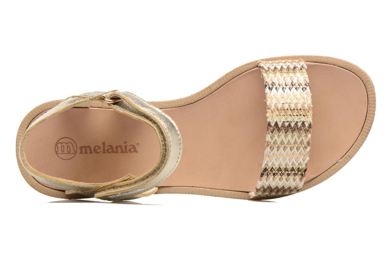 Sandales et nu-pieds Melania Valentina Or et bronze vue gauche