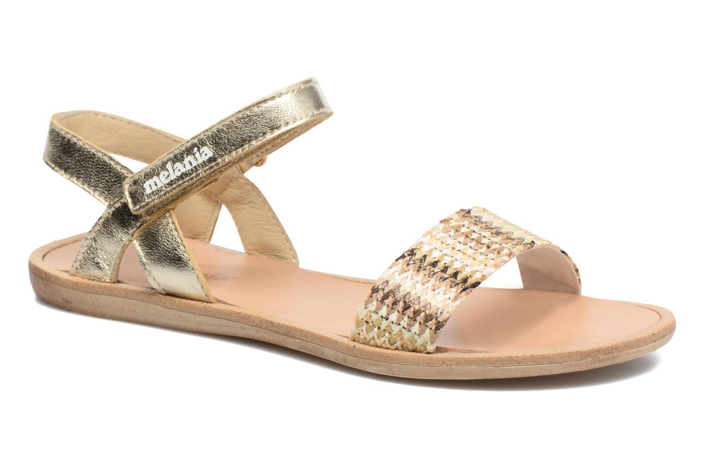 Sandales et nu-pieds Melania Valentina Or et bronze vue détail/paire