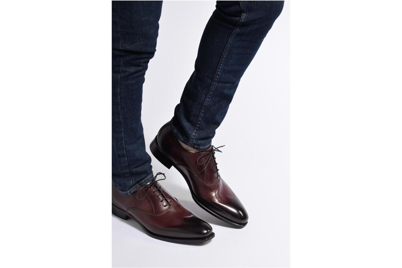 Snörade skor Marvin&Co Luxe Dagenham Vinröd bild från under