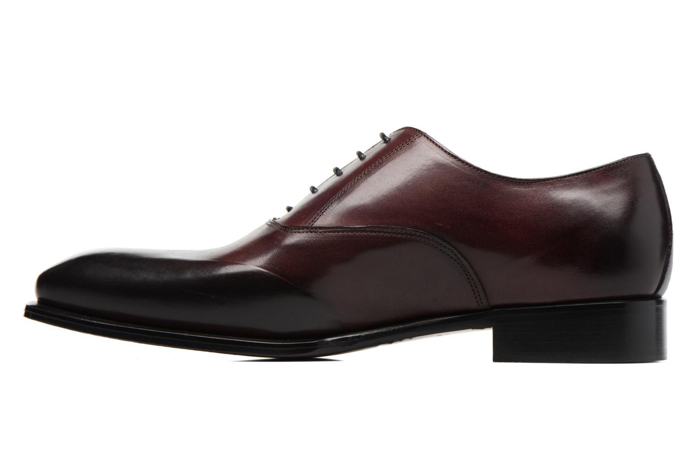 Snörade skor Marvin&Co Luxe Dagenham Vinröd bild från framsidan