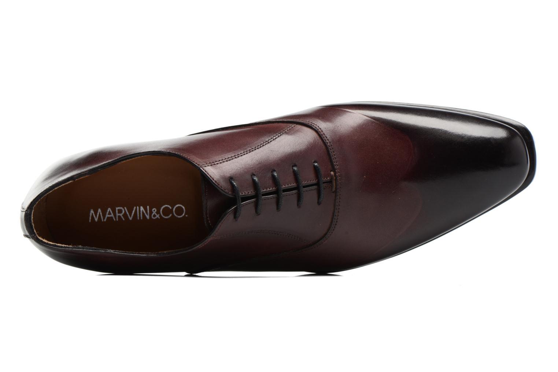 Snörade skor Marvin&Co Luxe Dagenham Vinröd bild från vänster sidan