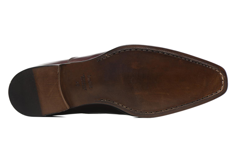 Snörade skor Marvin&Co Luxe Dagenham Vinröd bild från ovan