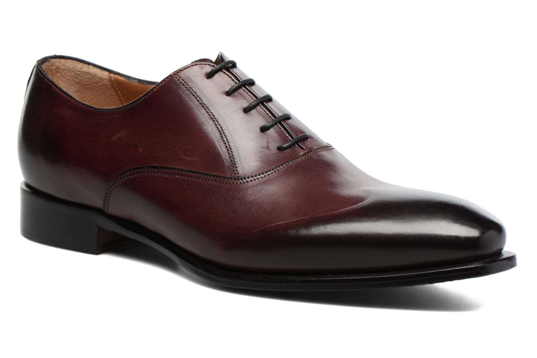 Snörade skor Marvin&Co Luxe Dagenham Vinröd detaljerad bild på paret