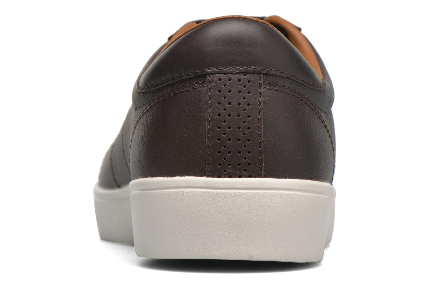 Baskets Fred Perry Spencer Tumbled Leather Marron vue droite