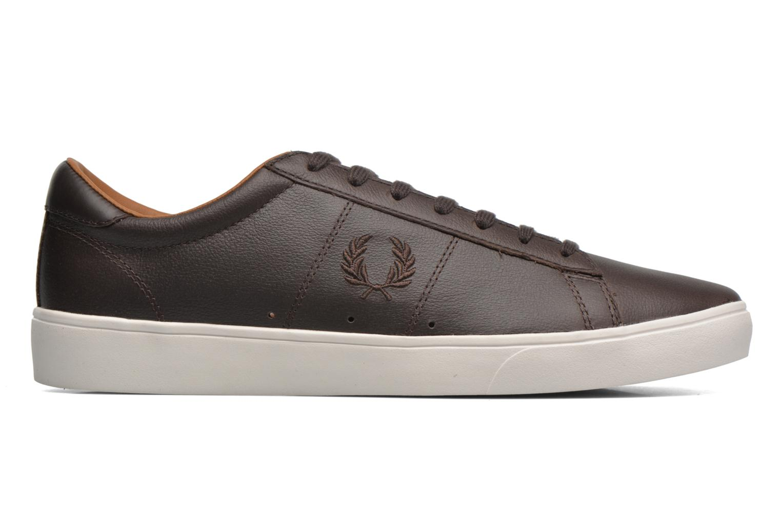 Baskets Fred Perry Spencer Tumbled Leather Marron vue derrière