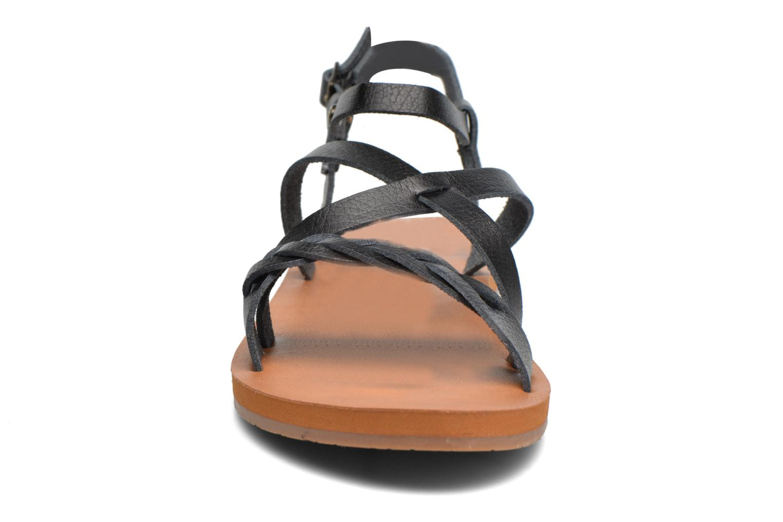 Sandales et nu-pieds Roxy Britney Noir vue portées chaussures