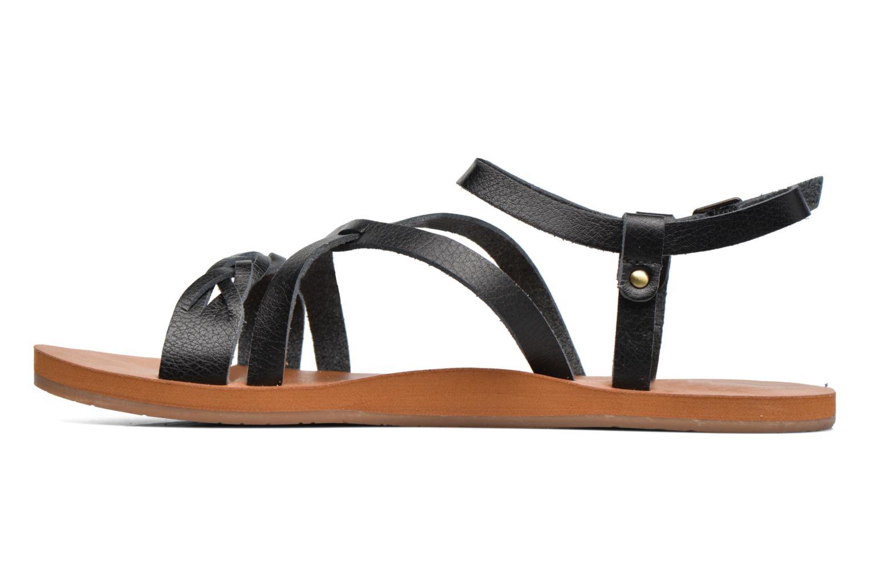 Sandales et nu-pieds Roxy Britney Noir vue face