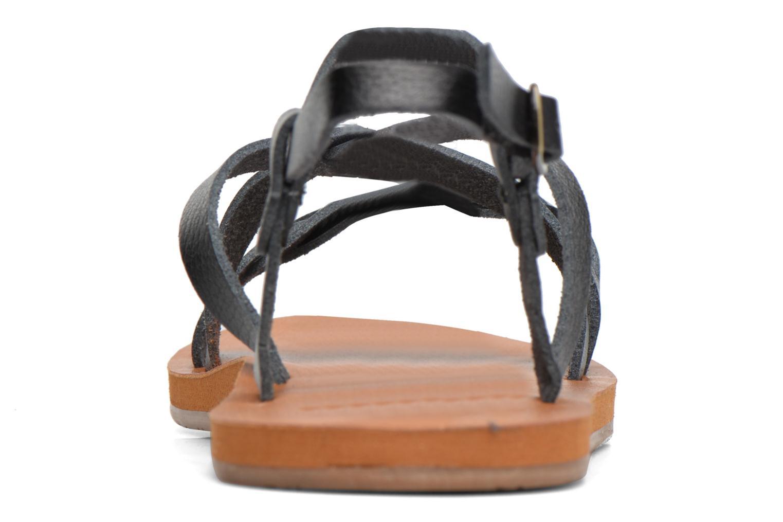 Sandales et nu-pieds Roxy Britney Noir vue droite