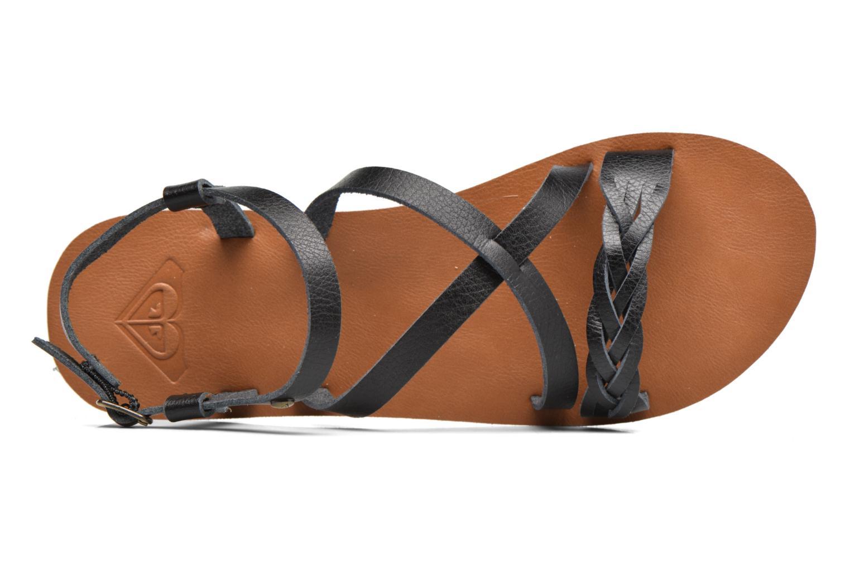 Sandales et nu-pieds Roxy Britney Noir vue gauche