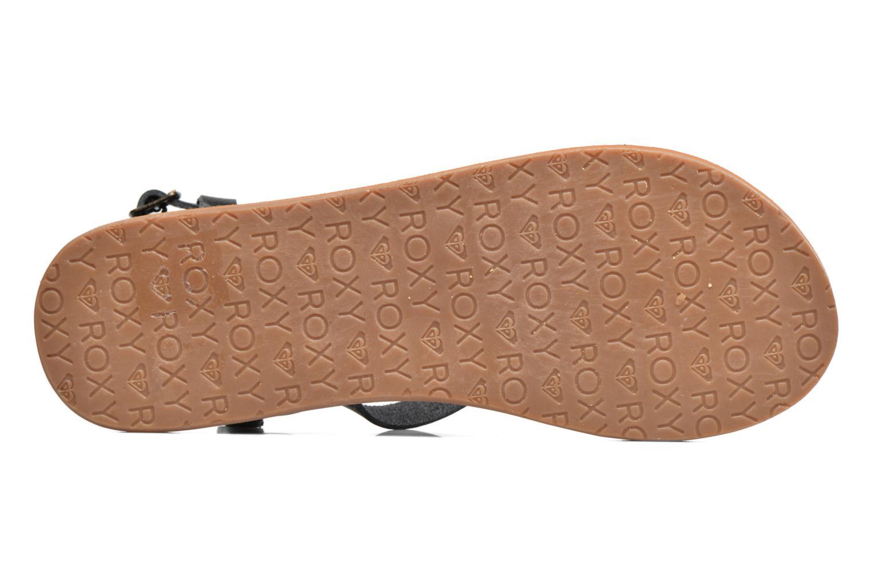 Sandales et nu-pieds Roxy Britney Noir vue haut