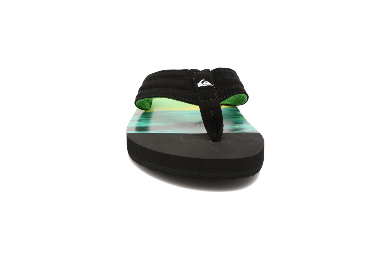 Tongs Quiksilver Basis M Noir vue portées chaussures