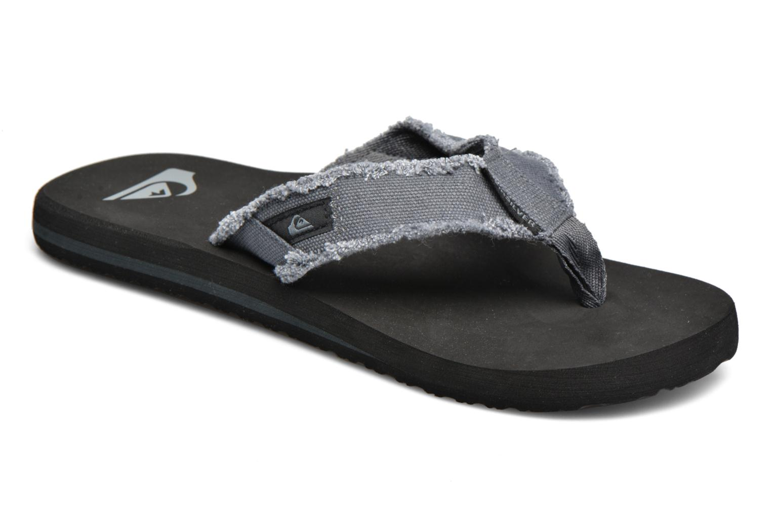 Flip flops Quiksilver Monkey Abyss M Grey detailed view/ Pair view