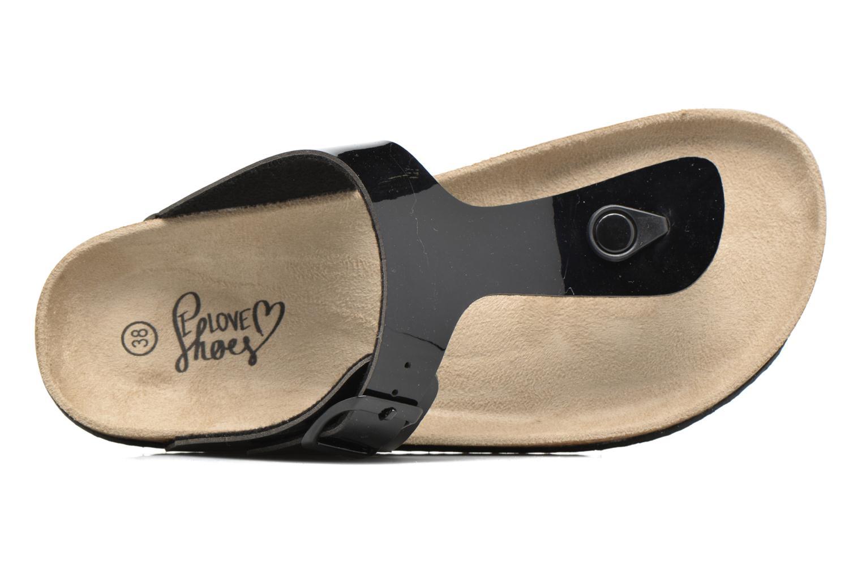 Sandalen I Love Shoes MCOLOS schwarz ansicht von links