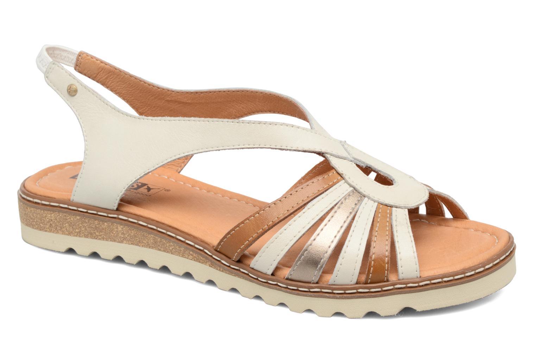 Sandales et nu-pieds Pikolinos Alcudia W1L-0860 Blanc vue détail/paire