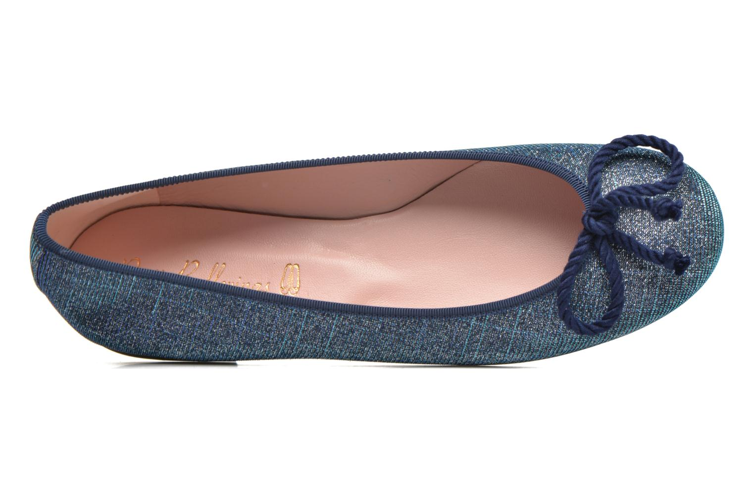 Ballet pumps Pretty Ballerinas Rosario Glitter Blue view from the left