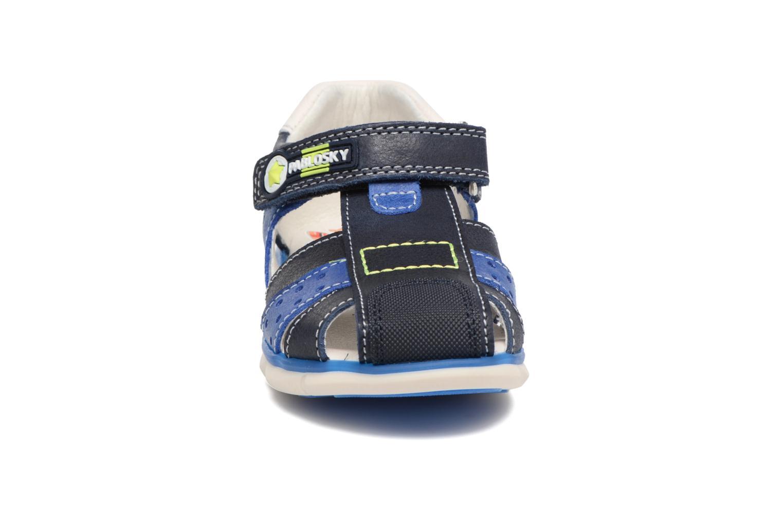 Sandales et nu-pieds Pablosky Alberto Bleu vue portées chaussures